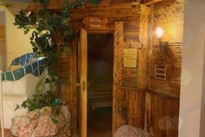 Die Finnische Sauna vom Wellnesshotel Lacknerhof in Salzburg