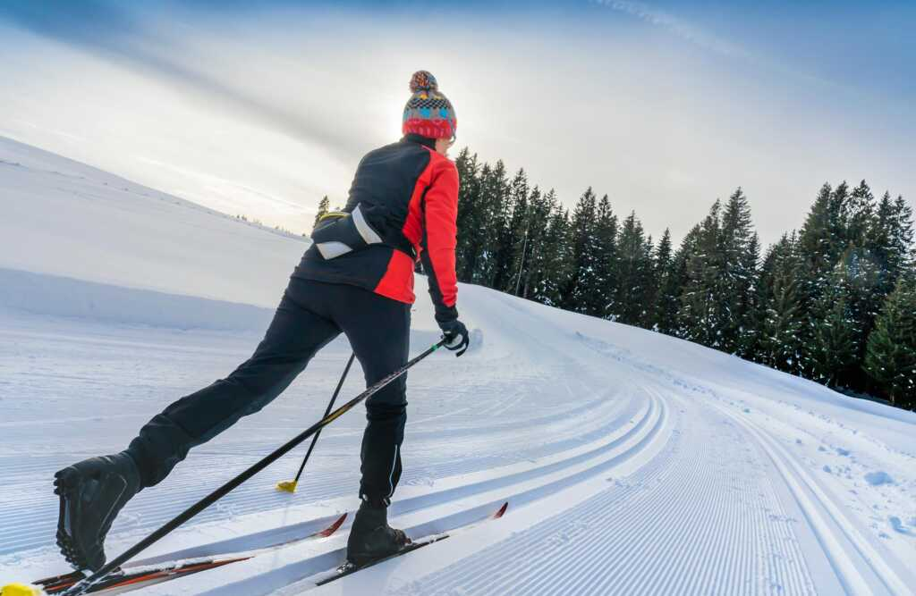 Langlaufen in Flachau im Winter