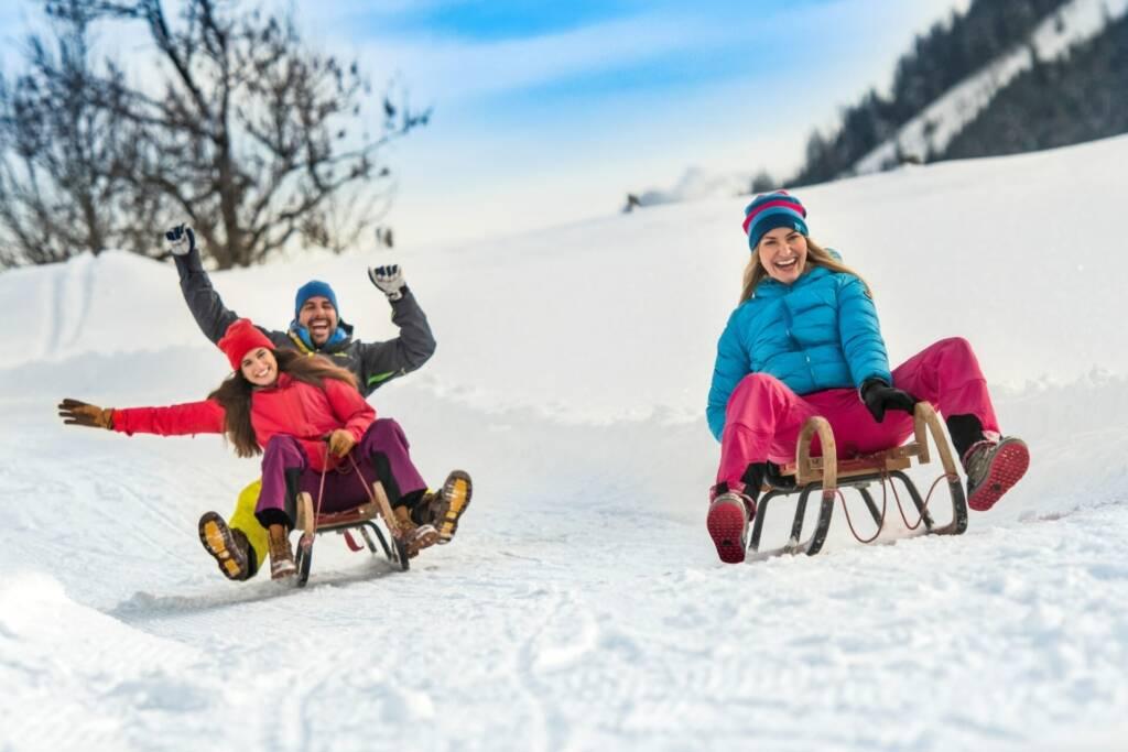 Rodeln im Winter in Flachau
