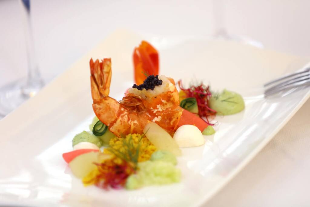 Kulinarik Fischgericht vom Restaurant im Lacknerhof