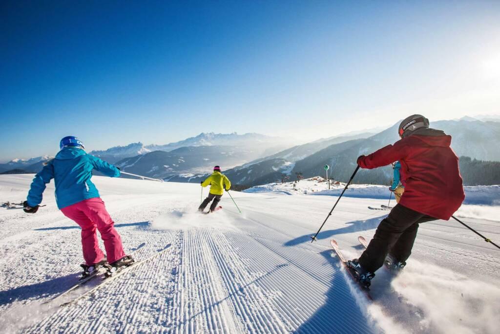 Aussicht beim Skifahren im Skigebiet Flachau