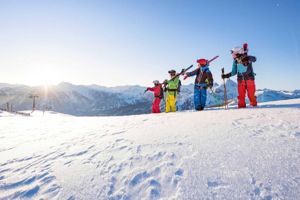Sonnenaufgang im Skigebiet Flachau